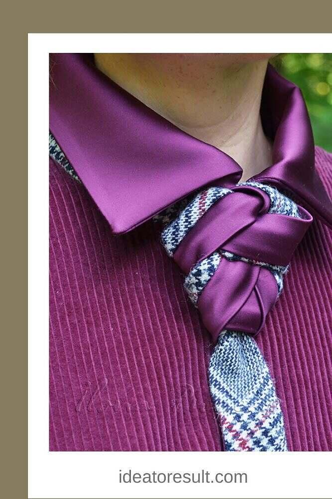 Как завязать женский галстук | авторская коллекция Илоны Пузене