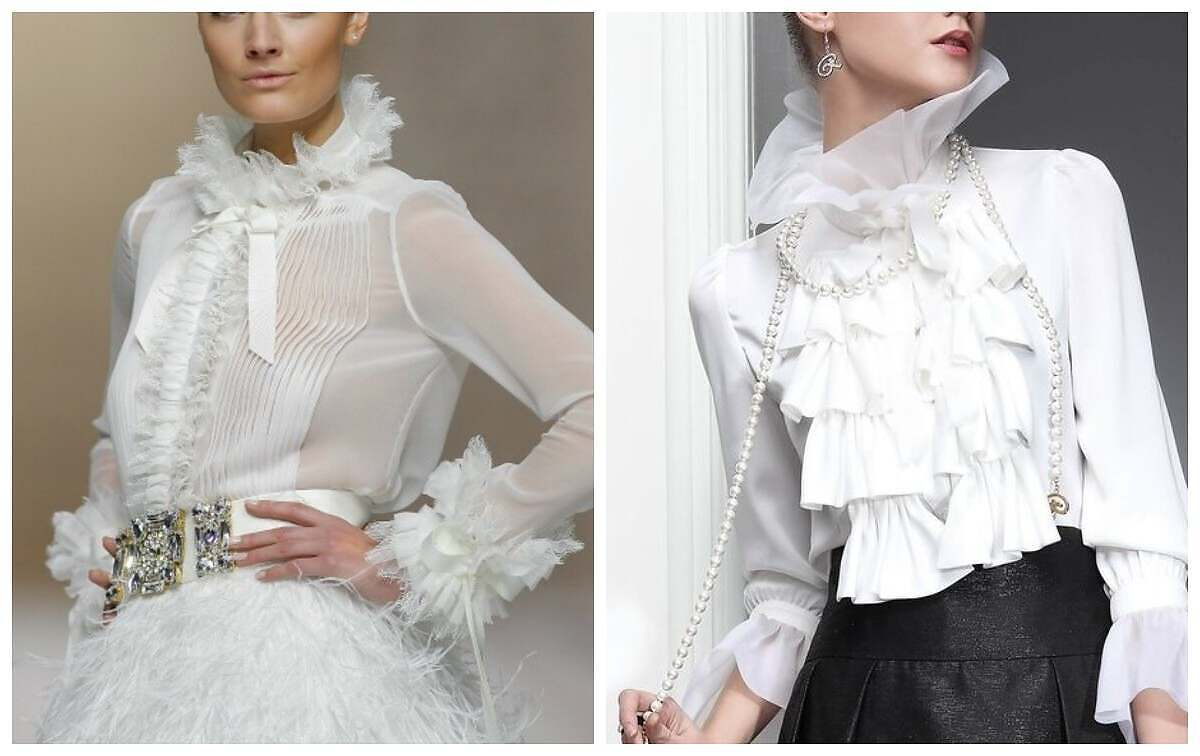 Жабо в блузках | мастерская Илоны Пузене