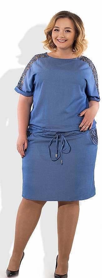 Платье блузон