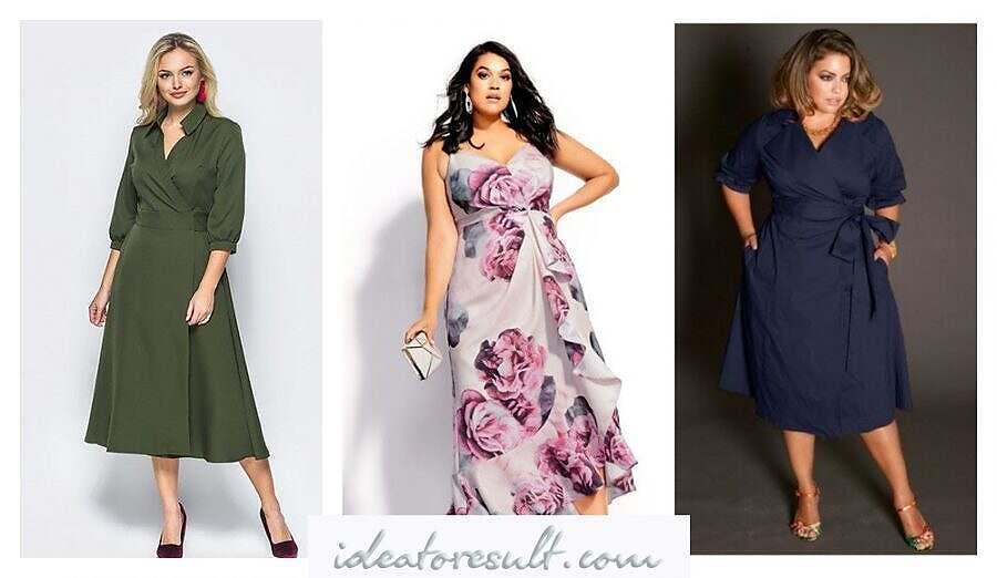 Платье с запахом для полных | мастерская от Идеи до Результата