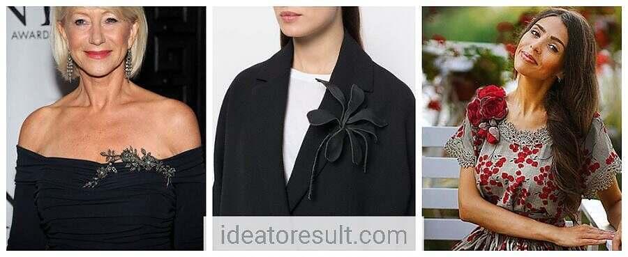 Как носить броши на одежде | мастерская Ideatoresult
